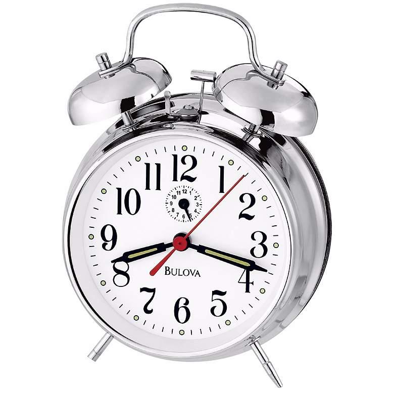 Bulova Bellman Chrome Alarm Clock