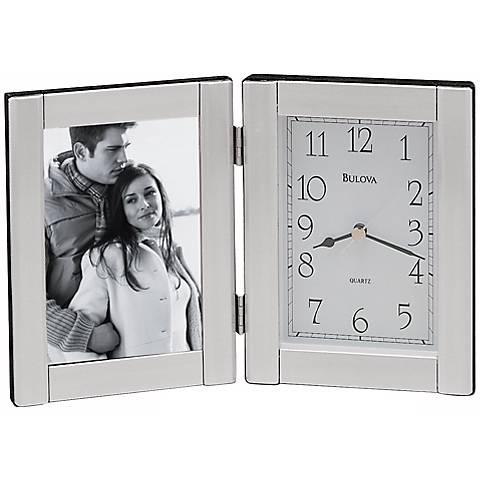 Bulova Forte Photo Frame Clock