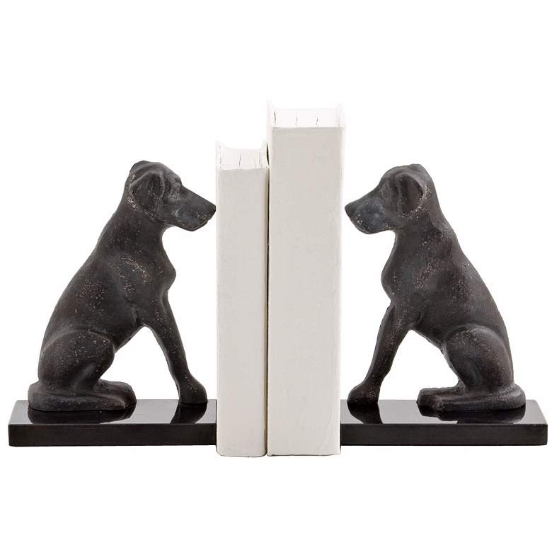 Harley the Dog Iron Bookends Set