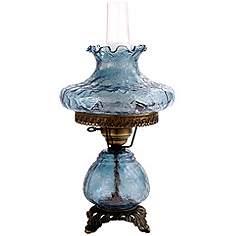 Hurricane lamps table lamps lamps plus blue crackle tamoshanta night light hurricane table lamp aloadofball Image collections
