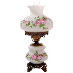 Hurricane lamps table lamps lamps plus pink roses medium hurricane night light table lamp aloadofball Images