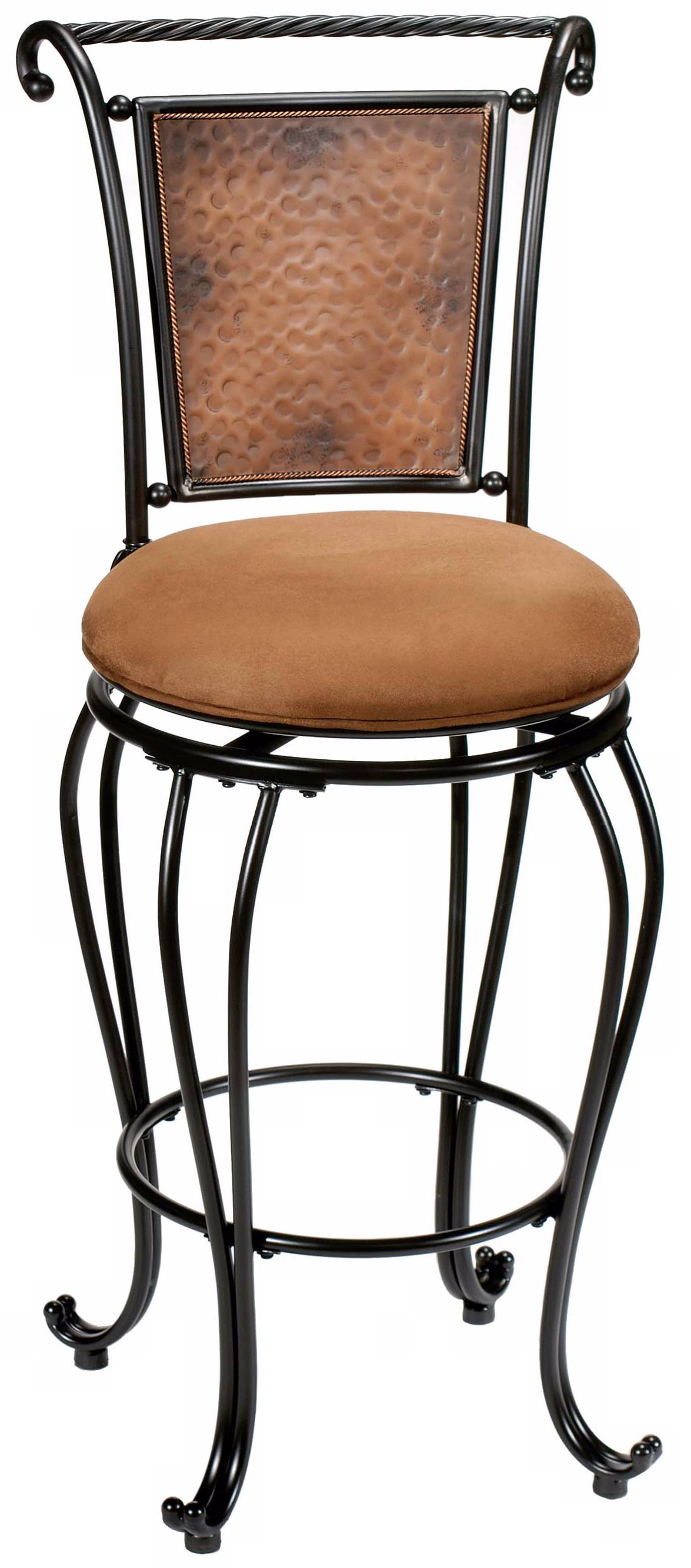 Hillsdale Halbrooke 25 Quot Cream Fabric Swivel Counter Stool