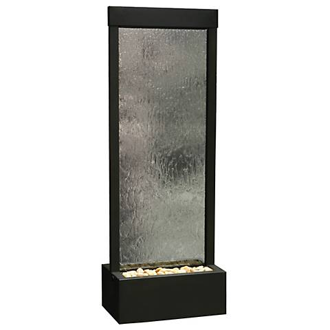 """Gardenfall 72""""H LED Black Onyx Indoor/Outdoor Glass Fountain"""