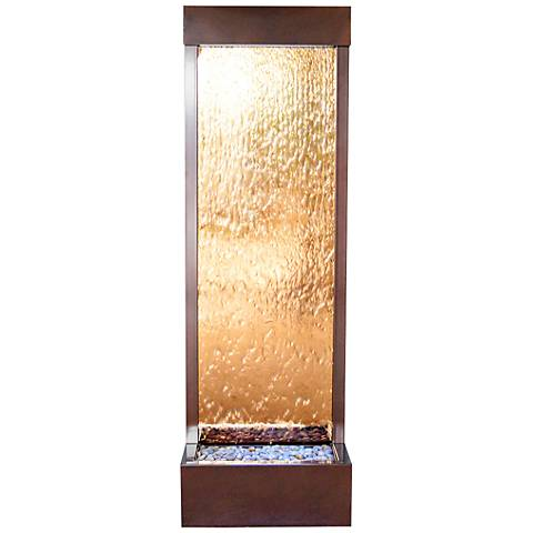 "Gardenfall 72""H LED Bronze Glass Indoor/Outdoor Fountain"