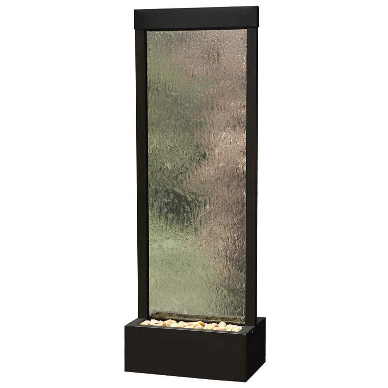 "Gardenfall 90""H LED Onyx Indoor/Outdoor Clear Glass Fountain"