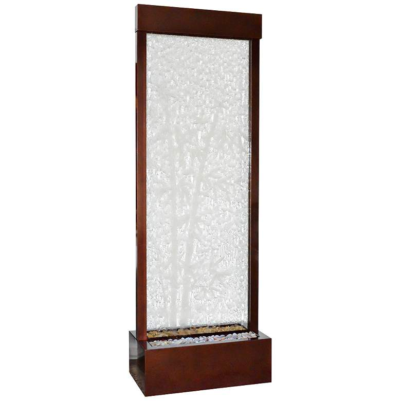 """Gardenfall 90""""H LED Bamboo Glass Indoor/Outdoor Fountain"""