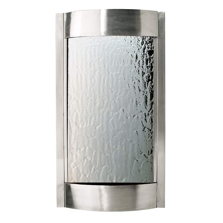 """Contempo Luna 36"""" Steel Finish Fountain"""