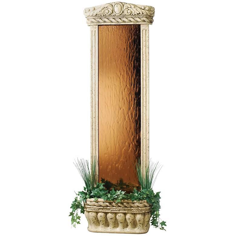 "Tempered Mirrored Glass 72"" High Watergarden Fountain"