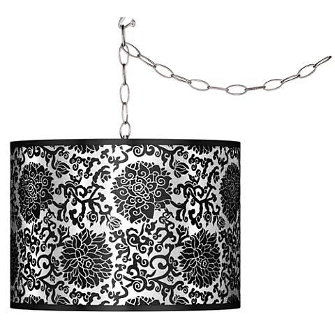 Swag Style Thomas Paul Blossom Silver Metallic Plug-In Chandelier
