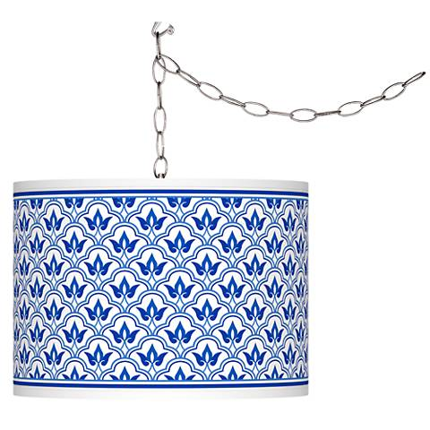 Swag Style Arabella Giclee Shade Plug-In Chandelier