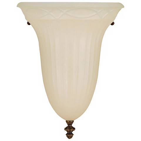 "Feiss Edwardian 12"" High Half Moon Wall Sconce"