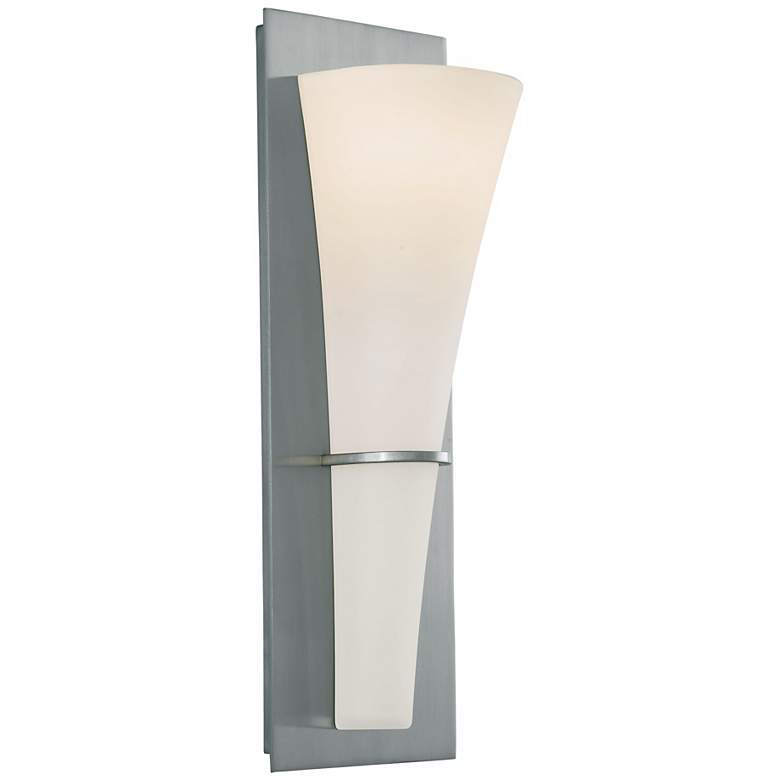 """Feiss Barrington 15 1/4"""" High Brushed Steel Wall Sconce"""