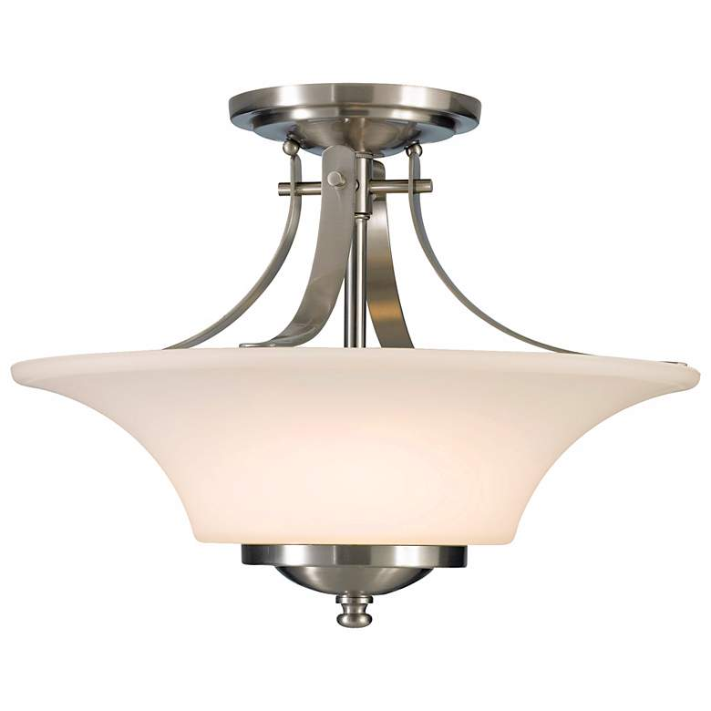 "Barrington 15"" Wide Semi-Flushmount Ceiling Fixture by Feiss"