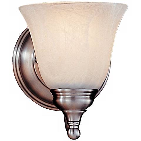 "Feiss Bristol Collection 7"" High Pewter Small Wall Sconce"