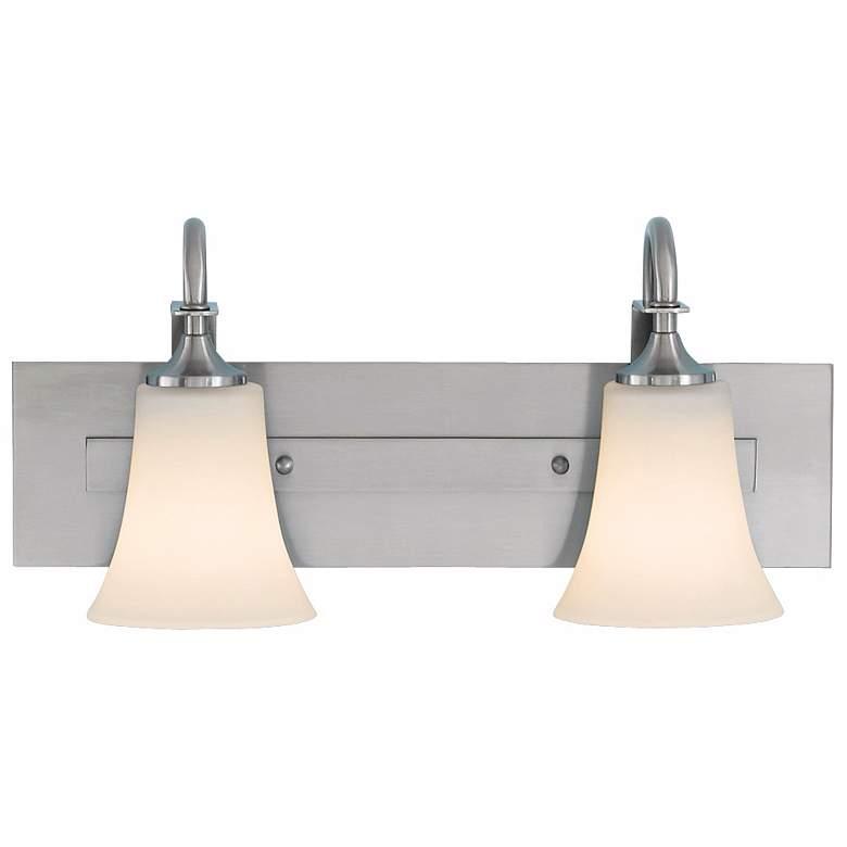 Feiss Barrington Brushed Steel Two Light Bath Bar