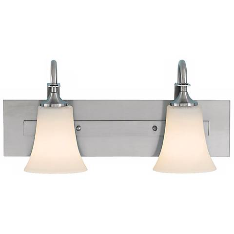 Feiss Barrington Brushed Steel Two Light Bath Bar