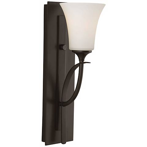 "Feiss Barrington 16"" High Bronze One Light Wall Sconce"