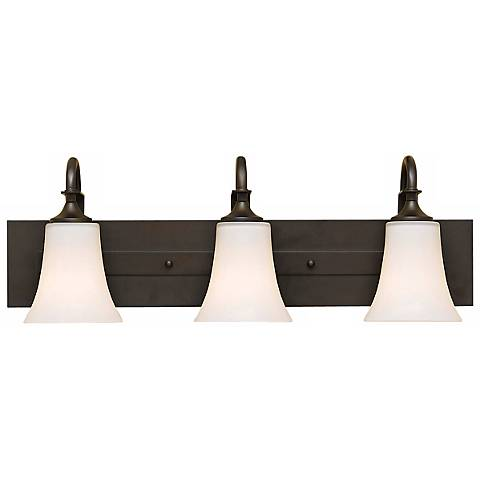 "Feiss Barrington 24"" Wide Bronze Three Light  Bath Bar"