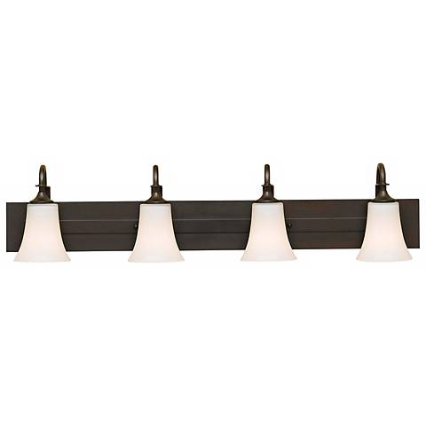 "Feiss Barrington 37"" Wide Bronze Four Light Bath Bar"