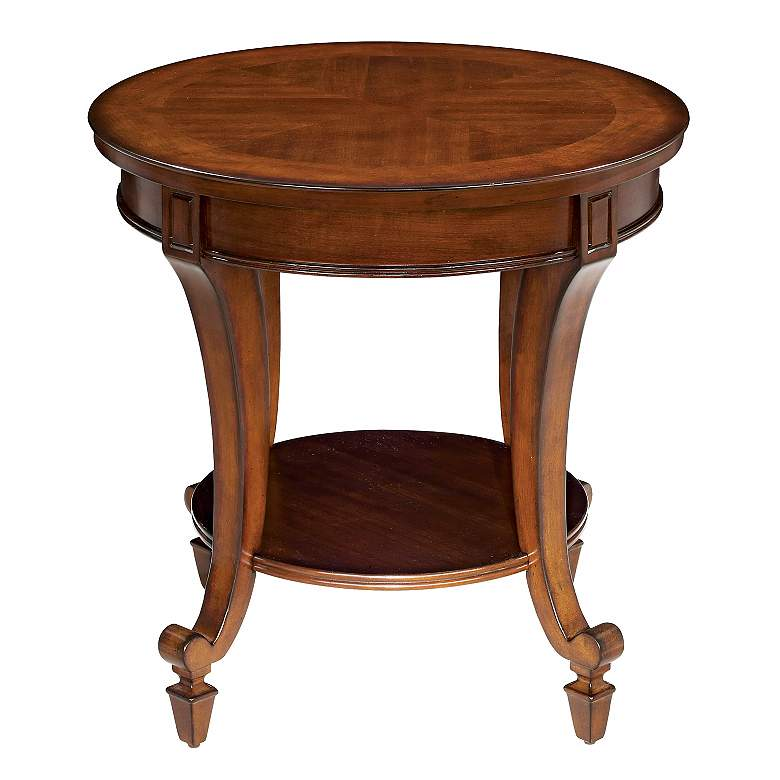 """Demilune Collection 24"""" Wide Round End Table"""