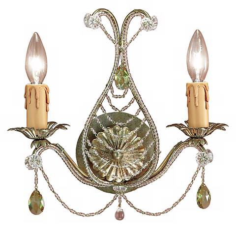 """Abigail Gold 12"""" High Two Light Wall Sconce"""