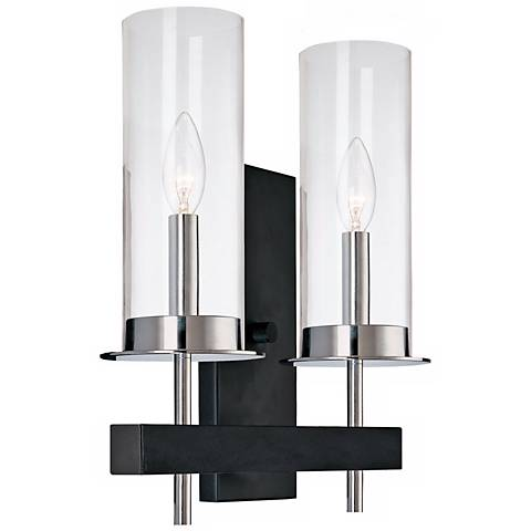 "Sonneman Tuxedo 14 1/2"" High Two Light Wall Sconce"