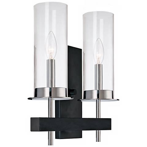 Sonneman Tuxedo High Two Light Wall Sconce G Lamps Plus - Two light bathroom sconce