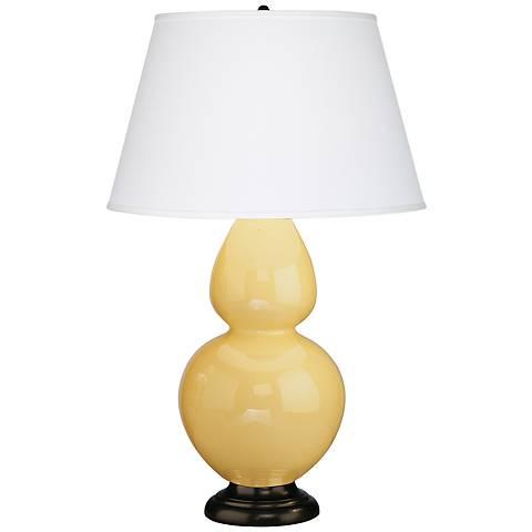 Robert Abbey 31 Yellow Ceramic And Bronze Table Lamp G6549