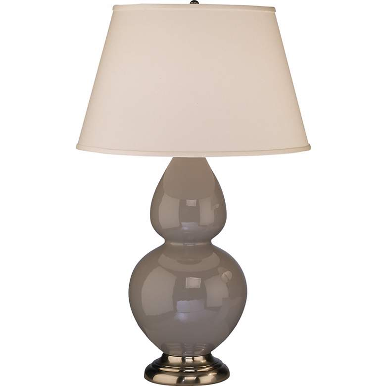 """Robert Abbey 31"""" Taupe Gray Ceramic Table Lamp"""
