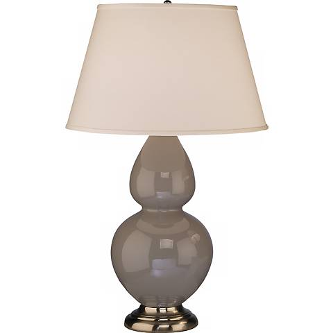 """Robert Abbey 31"""" Taupe Ceramic and Silver Table Lamp"""
