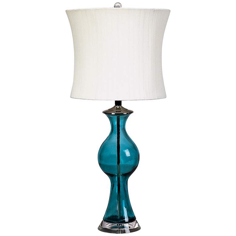 Lamp Works Blue Dream Glass Table Lamp