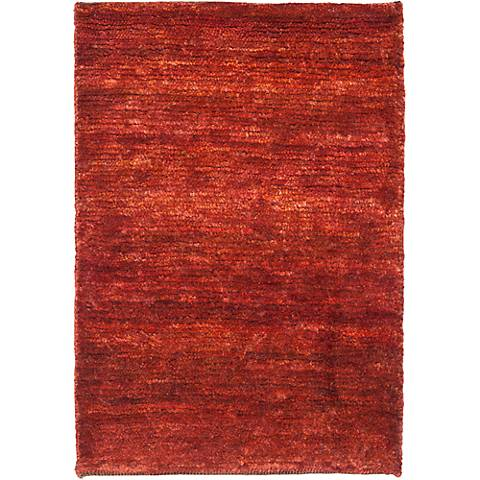 Bohemian Red Eco-Friendly Jute Area Rug