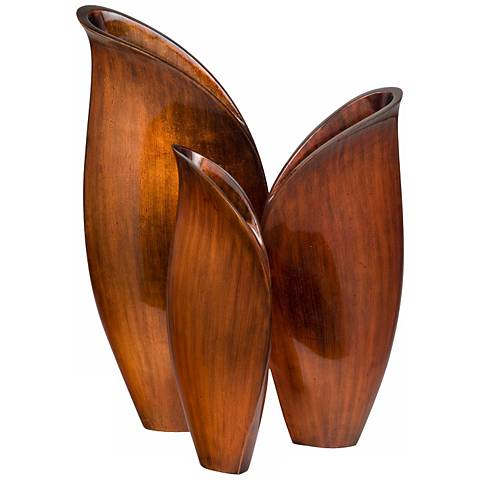 """Esin 21 3/4"""" High Lacquer Vases Set of 3"""