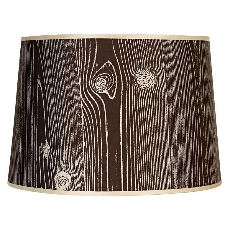 Lights Up! Faux Bois Dark Lamp Shade 14x16x11