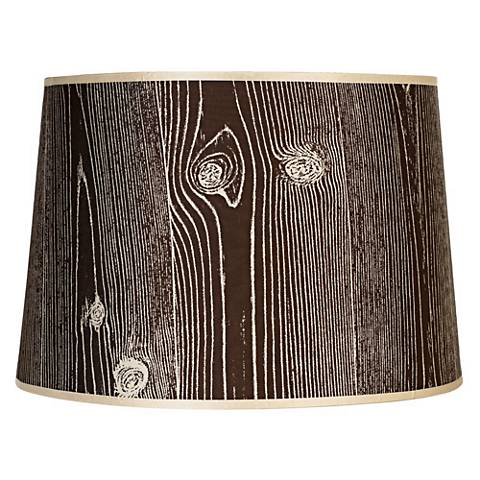 Lights Up! Faux Bois Dark Lamp Shade 14x16x11 (Spider)