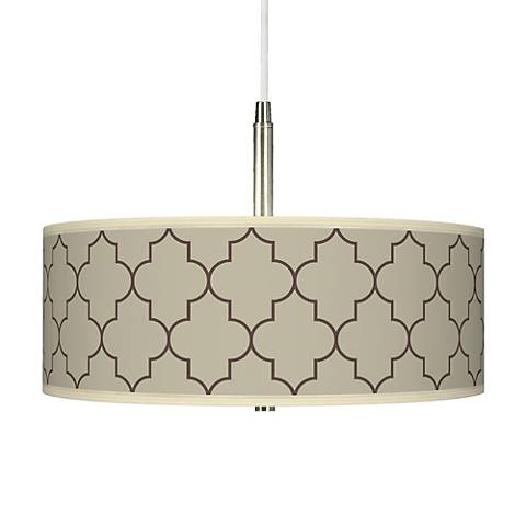 Tangier Taupe Giclee Pendant Chandelier