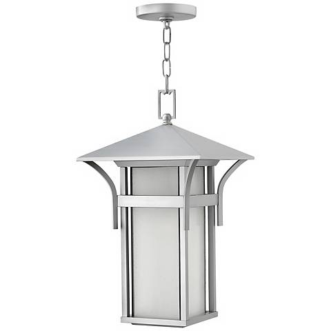 "Hinkley Harbor Titanium 19"" High Outdoor Hanging Light"