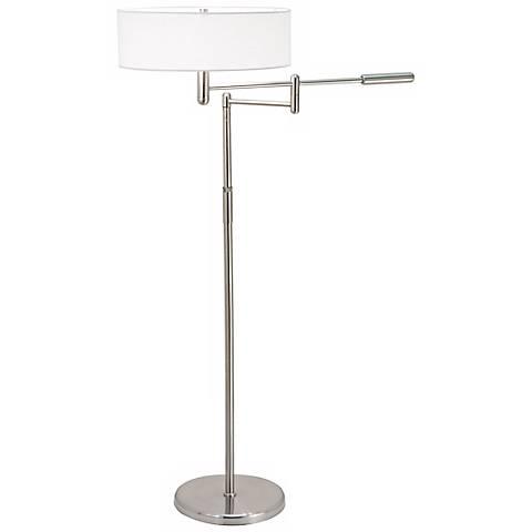 Sonneman Perno Satin Nickel Swing Arm Floor Lamp