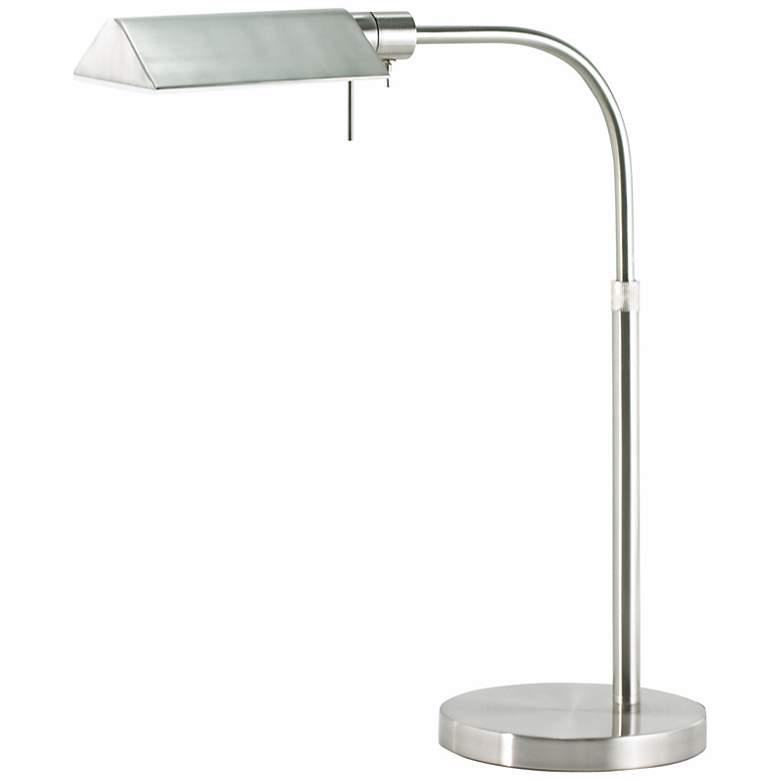 Sonneman Tenda Satin Nickel Pharmacy Desk Lamp