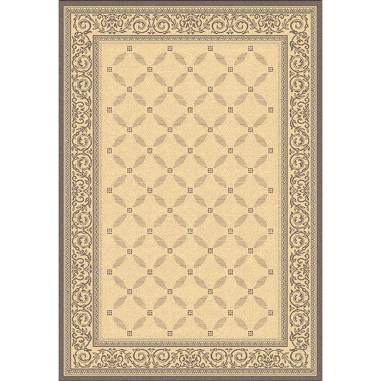 Portico Collection Natural and Brown Indoor/Outdoor Area Rug