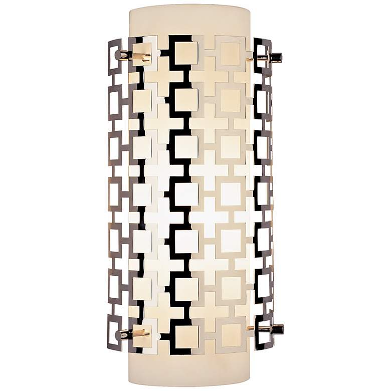 """Jonathan Adler Parker Collection 15"""" High Nickel Wall Sconce"""