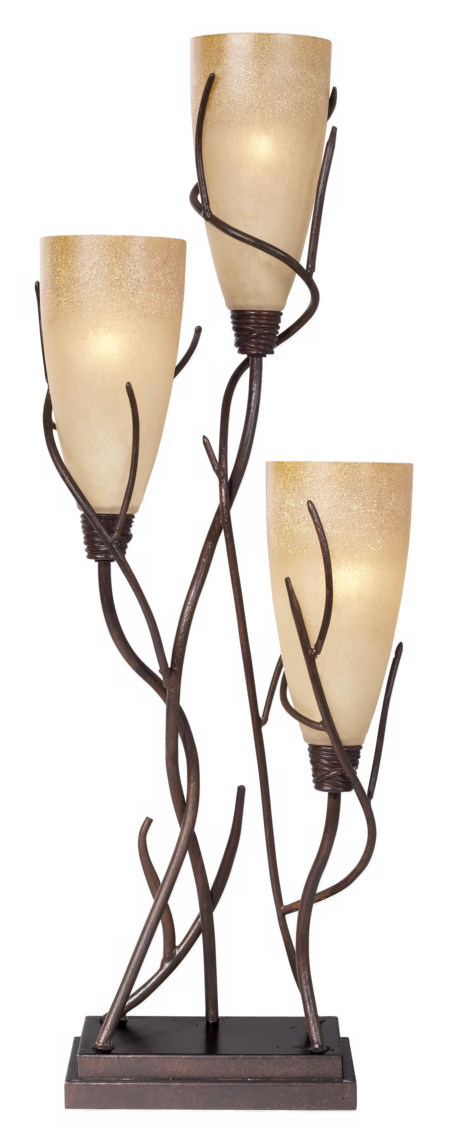 Elegant El Dorado 3 Light Uplight Table Lamp