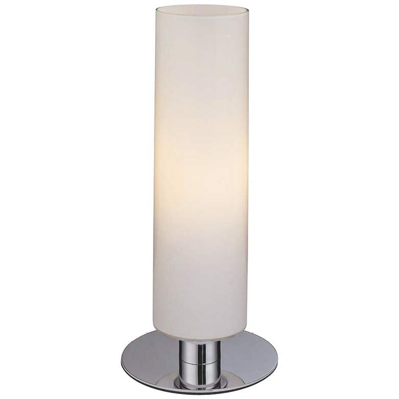 George Kovacs Energy-Saving Glossy White Cylinder Table Lamp