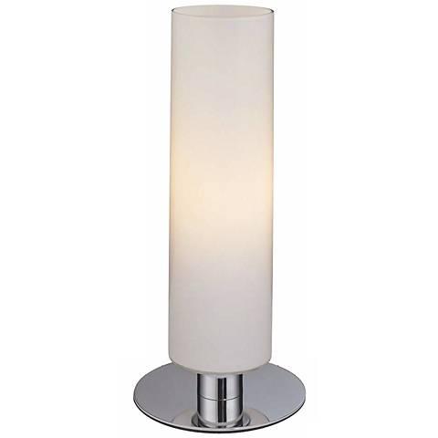 George kovacs energy saving glossy white cylinder table lamp george kovacs energy saving glossy white cylinder table lamp mozeypictures Gallery