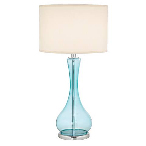 Blue Martini Glass Table Lamp