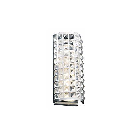 "Deco Crystal and Chrome 14"" High ADA Wall Sconce"