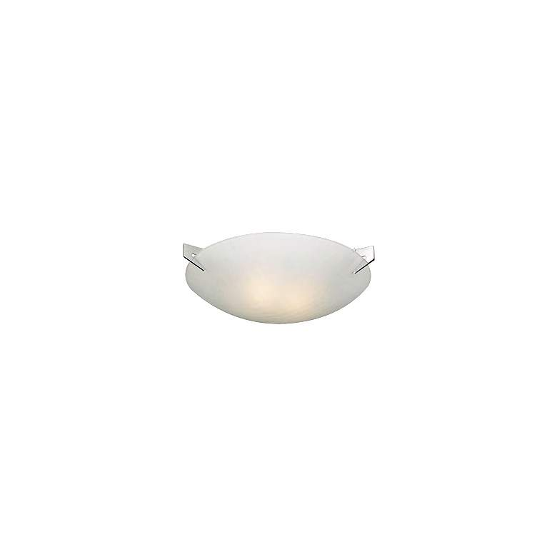 """Checkered Acid Frost Glass 13"""" Wide Ceiling Light Fixture"""