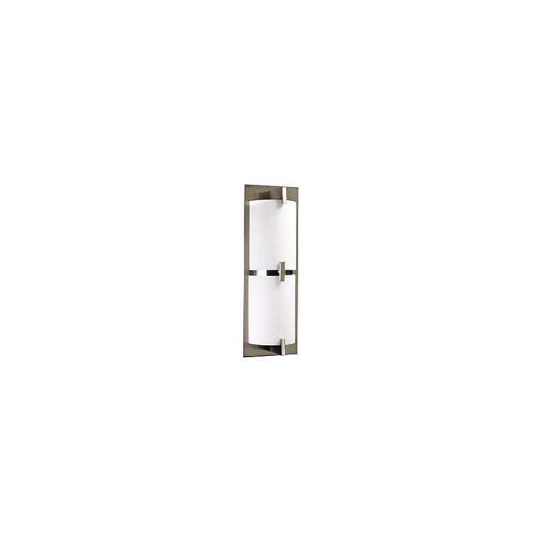 "Opal Glass Curve 16 1/2"" Wide ADA Bathroom Light Fixture"