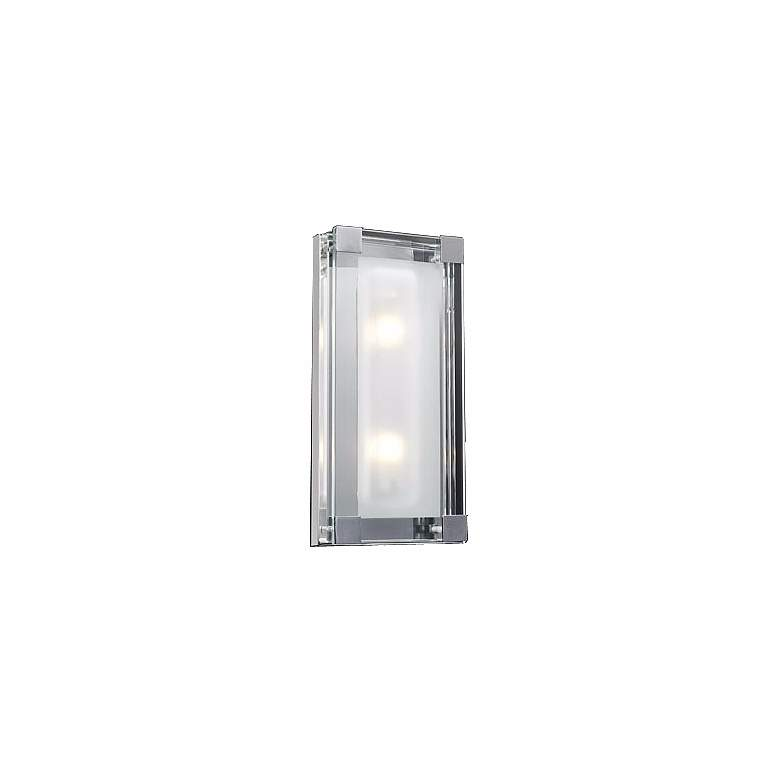 """Nice Cube Frosted Glass 14"""" High ADA Wall Sconce"""