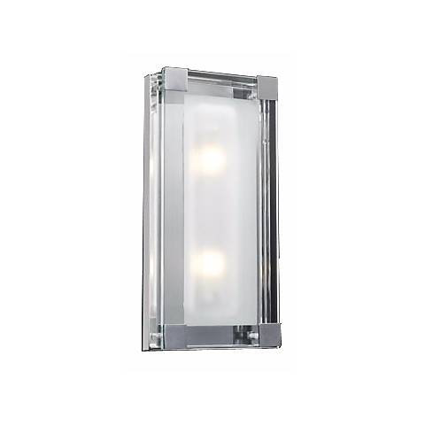 "Nice Cube Frosted Glass 14"" High ADA Wall Sconce"
